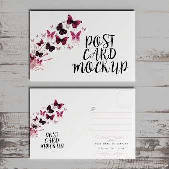 Postkarte & einladung mock-up