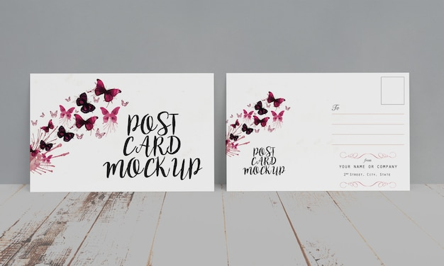 Postkarte & einladung mock-up