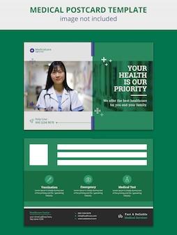 Postkarte für medizin und gesundheitswesen
