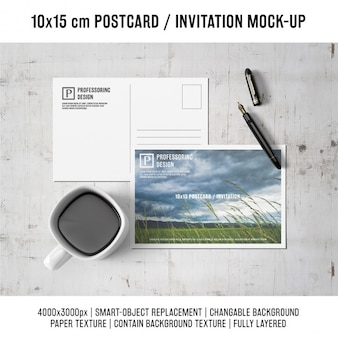 Postkarte mock-up-design