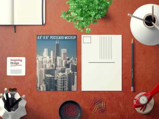 Postkarte vorne und umgekehrt mock up