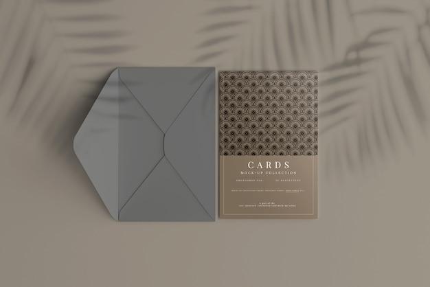 Postkarten- oder einladungskartenmodell