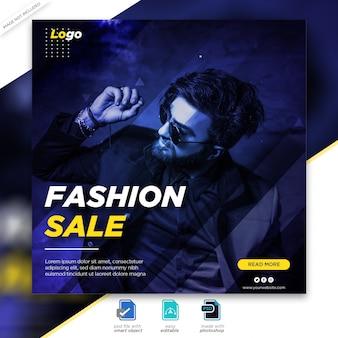 Postvorlage für den social fashion sale social media