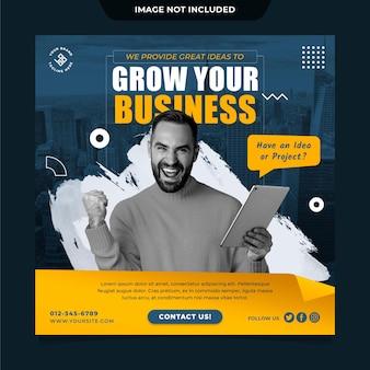 Postvorlage für digitales marketing in sozialen medien