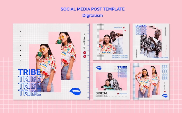 Postvorlage für digitalismus in den sozialen medien