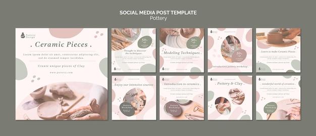 Pottery social media post