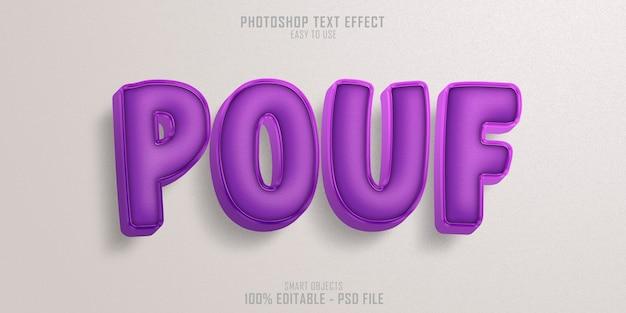 Pouf chair textstil effektvorlage