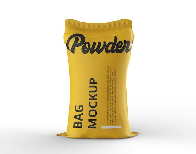 Powder bag mockup