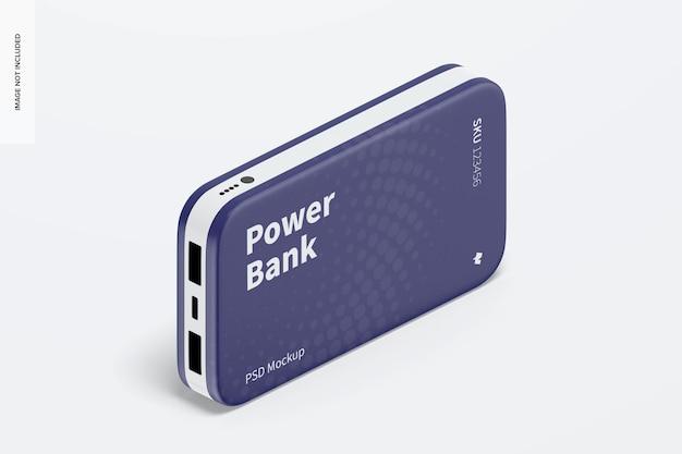 Power bank blister-modell, isometrische ansicht