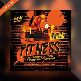 Power fitness banner vorlage