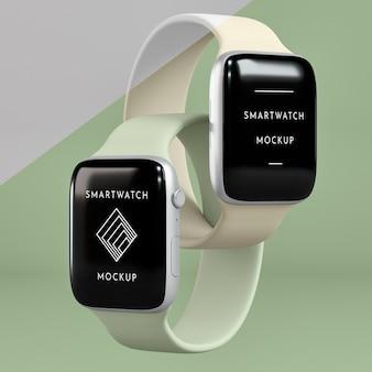 Präsentation für smartwatches mit bildschirmmodell