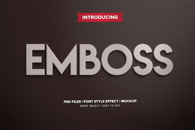 Premium 3d emboss font effekt