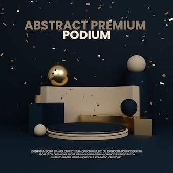 Premium abstraktes einfaches podium produktdisplay