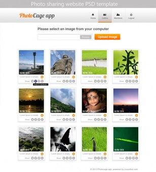 Premium foto-sharing-website psd-vorlage