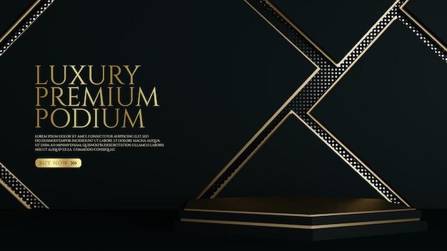 Premium gold luxury ornament podium produktdisplay