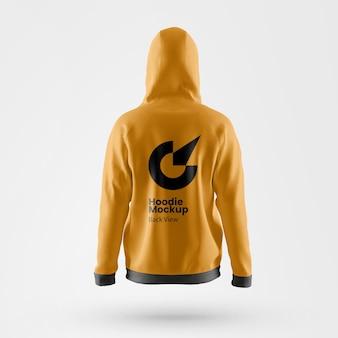 Premium hoodie mockup rückansicht