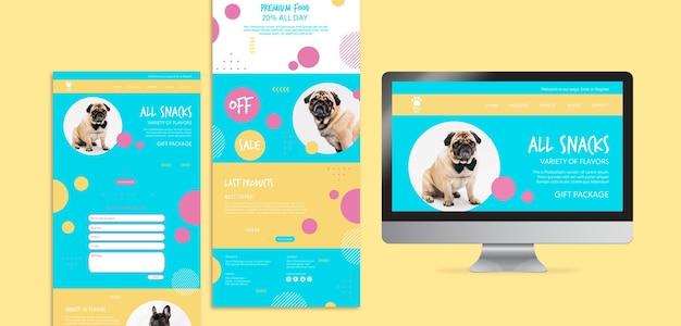 Premium hundefutter mit geschenkpaket