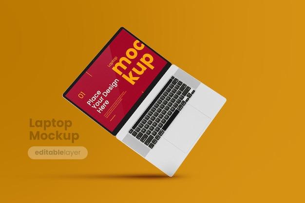 Premium-laptop-modell im minimalistischen stil