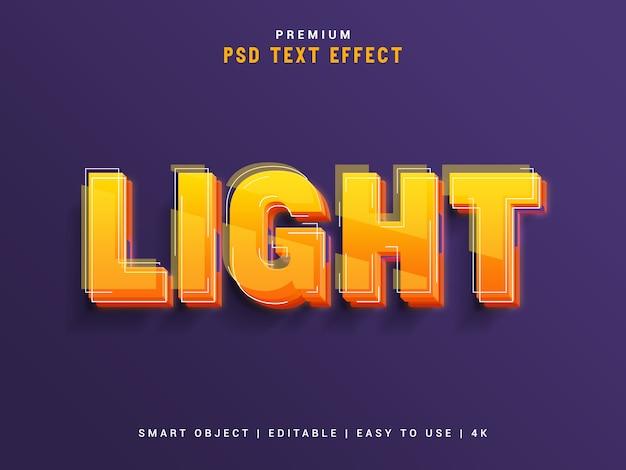 Premium light text effect maker