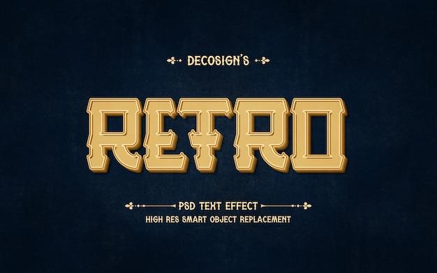 Premium retro text effekt modell