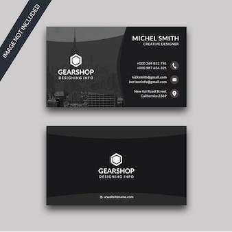 Premium schwarze visitenkarte