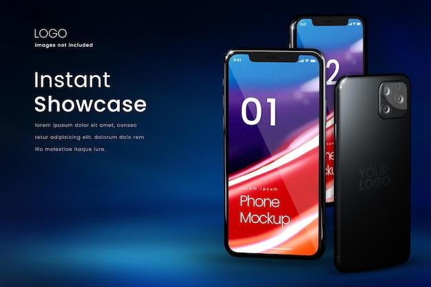 Premium-smartphone-bildschirmmodell zum präsentieren von apps