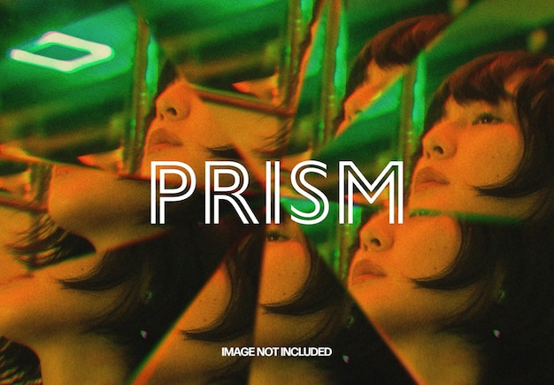 Prisma-kaleidoskop-fotoeffektschablone