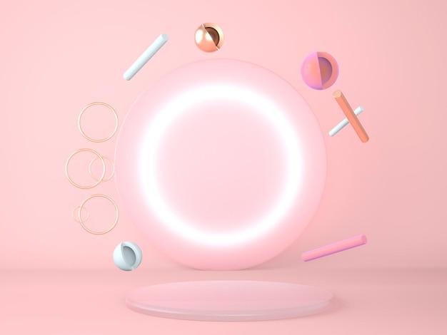 Produkt podium geometrie konzept rendering