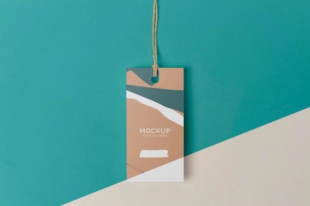 Produkt-tag-modell in draufsicht