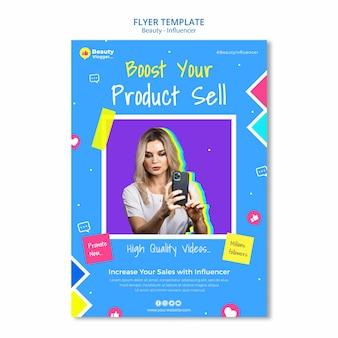 Produkt verkaufen flyer vorlage