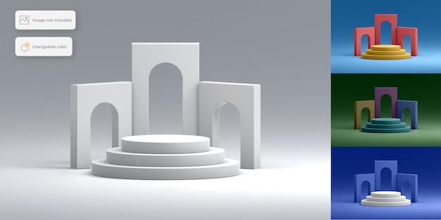 Produktplatzierung des eleganten 3d-podiums