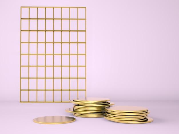 Produktpodest auf abstraktem rendering des abstrakten minimalgeometriekonzepts