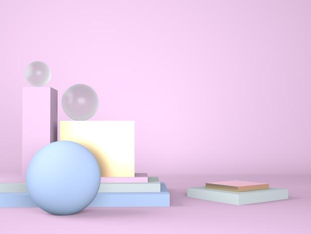 Produktpodest auf pastell-hintergrundausstellung und business-marketing-präsentationsphase