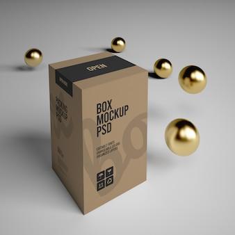Produktverpackung papierbox modell