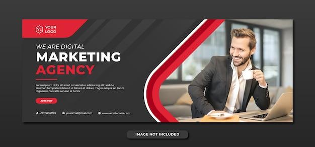 Professionelle banner-vorlage der agentur für digitales marketing