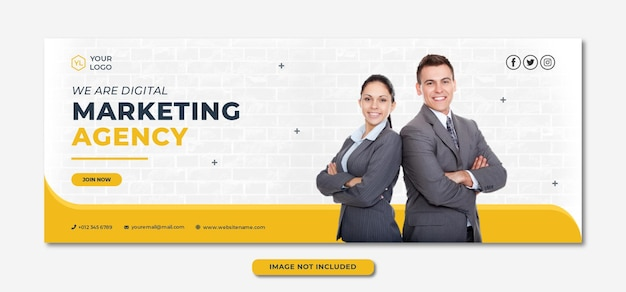 Professionelle banner-vorlage der agentur für digitales marketing