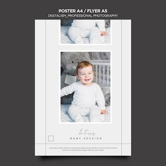 Professionelle fotografie poster design