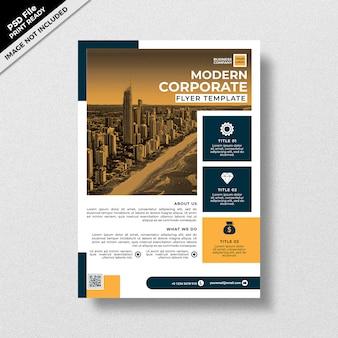 Professionelle moderne corporate flyer vorlage