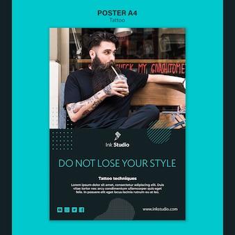 Professionelle tintenstudio poster vorlage