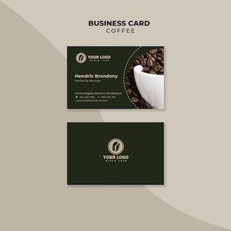 Professionelle visitenkarte für kaffee