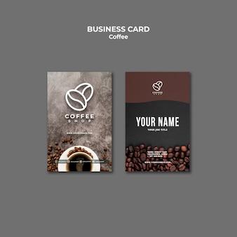 Professionelle visitenkartenvorlage für coffeeshops