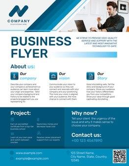 Professioneller business-flyer blau modernes design