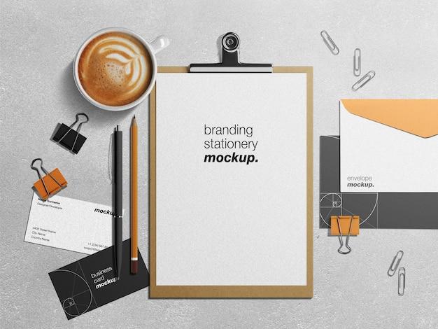 Professionelles corporate business identity schreibwarenmodell und szenenersteller