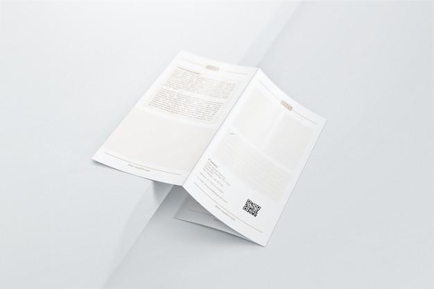 Professionelles, dreifach gefaltetes broschürenmodell