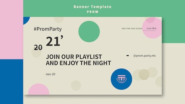 Prom party banner vorlage