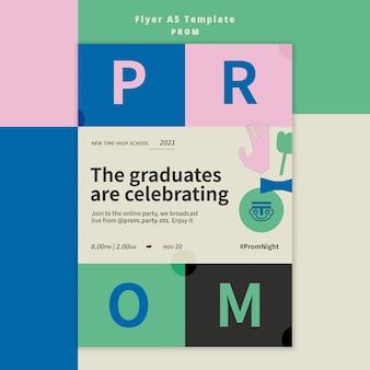 Prom party flyer vorlage