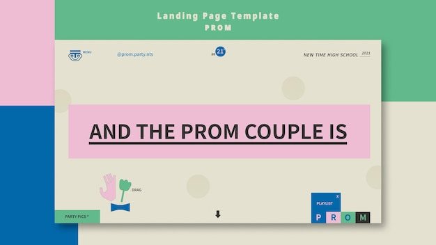 Prom party landing page vorlage