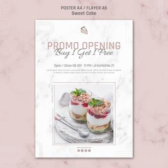 Promo-eröffnung kaufen sie eine erhalten sie eine kostenlose poster-vorlage