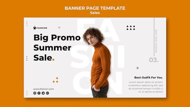 Promo mode verkauf banner vorlage