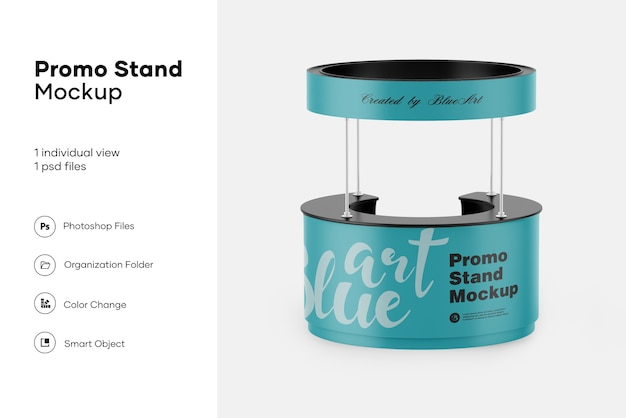 Promo stand mockup isoliert